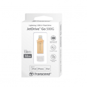 Transcend JetDrive USB 3.1 Go 500G 32GB - външна памет за iPhone, iPad, iPod с Lightning (32GB) (златист) 4