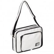 Lee Cooper PU Flight Bag - кожена чанта с презрамка за преносими компютри до 13 инча (бяла)