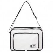 Lee Cooper PU Flight Bag - кожена чанта с презрамка за преносими компютри до 13 инча (бяла) 1