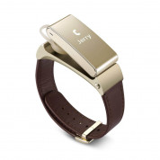 Huawei TalkBand B2 Wireless Activity Tracking Wristband + Bluetooth Earpiece (Works with UP) - Gold/Leather  2