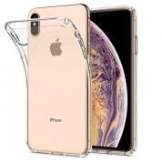 Spigen Liquid Crystal Case - тънък качествен термополиуретанов кейс за iPhone XS Max (прозрачен)  2