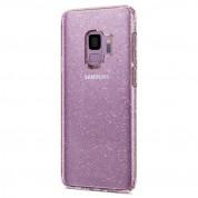 Spigen Liquid Crystal Glitter Case - тънък силикнов (TPU) калъф за Samsung Galaxy S9 (розов)  7