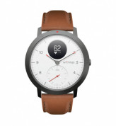 Withings Accessory Leather Sport Wristband (20mm) - качествена кожена каишка за Withings Steel HR Sport (кафяв) 1