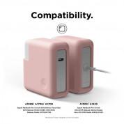 Elago MacBook Charger Cover - силиконов калъф за MagSafe 2 85W и Apple USB-C 87W захранвания (розов) 2