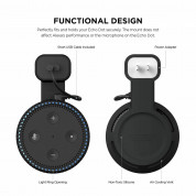 Elago Echo Dot 2nd Generation Outlet Wall Mount - силиконова поставка за Echo Dot 2 (черна) 3