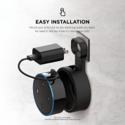Elago Echo Dot 2nd Generation Outlet Wall Mount - силиконова поставка за Echo Dot 2 (черна) 2