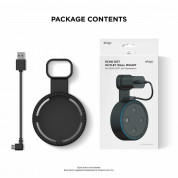 Elago Echo Dot 2nd Generation Outlet Wall Mount - силиконова поставка за Echo Dot 2 (черна) 6