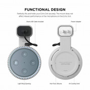 Elago Echo Dot 2nd Generation Outlet Wall Mount - силиконова поставка за Echo Dot 2 (бяла) 6