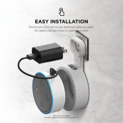 Elago Echo Dot 2nd Generation Outlet Wall Mount - силиконова поставка за Echo Dot 2 (бяла) 1