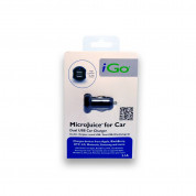 iGo Microjuice 2.1A Dual USB Car Charger (black) 4
