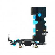 OEM iPhone 8 System Connector and Flex Cable - резервен захранващ (Lightning) лентов кабел/порт за iPhone 8 (тъмносив) 1