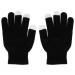 Зимни плетени ръкавици за тъч екрани Skeleton Unisex Size M/L (черен-бял) 2