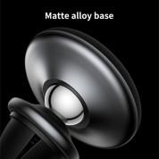 Baseus Star Ring Magnetic Car Bracket - магнитна поставка за радиатора на кола за смартфони (черен-син) 3