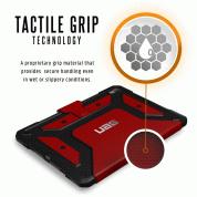 Urban Armor Gear Metropolis Folio Case - удароустойчив хибриден кейс от най-висок клас за iPad Pro 11 (2018) (червен-черен) 9
