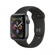 Apple Watch Series 4, 44mm Space Gray Aluminum Case with Black Sport Band - умен часовник от Apple