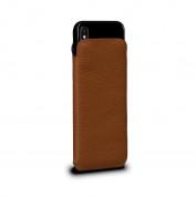 SENA UltraSlim Classic Pouch - кожен калъф (естествена кожа, ръчна изработка) за iPhone XR (кафяв)