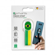 4smarts Loop Guard Finger Strap Brazil (white/green) 2