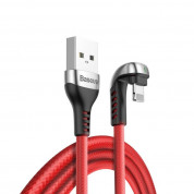 Baseus U-Shaped Mobile Game Cable USB for iPhone with Lightning conectors (200 cm) (red)