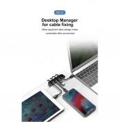 Baseus Auxiliary for Film & Cable Bundle - органайзер за кабели и помощник при поставянето на стъклени протектори за iPhone XR 8