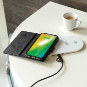 4smarts Premium Wallet Case URBAN - кожен калъф с поставка и отделение за кр. карта за iPhone 8, iPhone 7, iPhone 6 (черен-черен) 4