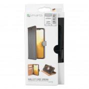 4smarts Premium Wallet Case URBAN - кожен калъф с поставка и отделение за кр. карта за iPhone 8, iPhone 7, iPhone 6 (черен-черен) 6
