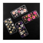 4smarts Soft Cover Glamour Bouquet - силиконов (TPU) калъф с цветя за iPhone XS, iPhone X (прозрачен-бял)