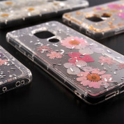 4smarts Soft Cover Glamour Bouquet - силиконов (TPU) калъф с цветя за Huawei Mate 20 (бял) 1