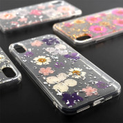 4smarts Soft Cover Glamour Bouquet - силиконов (TPU) калъф с цветя за iPhone XR (бял) 1