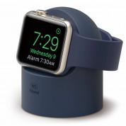 Elago W2 Watch Stand - силиконова поставка за Apple Watch (тъмносиня)