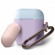 Elago Duo Hang Silicone Case - силиконов калъф за Apple Airpods (лилав)