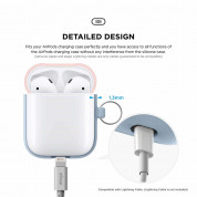 Elago Duo Hang Silicone Case - силиконов калъф за Apple Airpods (светлосин) 4