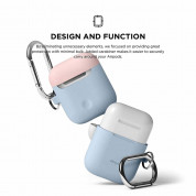 Elago Duo Hang Silicone Case - силиконов калъф за Apple Airpods (светлосин) 5