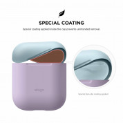 Elago Duo Silicone Case - силиконов калъф за Apple Airpods (лилав) 6