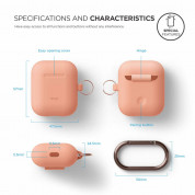 Elago Airpods Silicone Hang Case (orange) 3