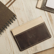 Moshi Lightweight Vegan Leather Slim Wallet - Oak Brown 4
