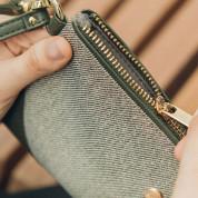 Moshi Wristlet Clutch - стилен портфейл/портмоне за китка от веган кожа (зелен) 4