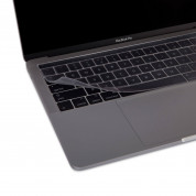 Moshi ClearGuard MB with Touch Bar - силиконов протектор за клавиатурата на MacBook Pro 13 и 15 с Touch Bar (прозрачен) (EU layout) 4