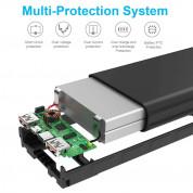 TeckNet iEP12000 20000mAh External Battery Power Bank - качествена външна батерия 20000mAh с USB-A и USB-C портове за зареждане на мобилни устройства (черен) 1