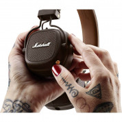 Marshall Major III Bluetooth - безжични слушалки с микрофон за смартфони и мобилни устройства (кафяв) 6