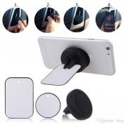 Magnetic Round Air Vent Holder - магнитна поставка за радиатора на кола за смартфони (черен) 1