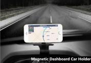 Magnetic Dashboard Car Mount Holder Round - магнитна поставка за таблото на кола за смартфони (черна) 2