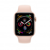 Apple Watch Series 4, 44mm Gold Aluminum Case with Pink Sand Sport Band - умен часовник от Apple 1