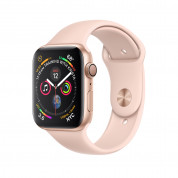 Apple Watch Series 4, 44mm Gold Aluminum Case with Pink Sand Sport Band - умен часовник от Apple