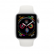 Apple Watch Series 4, 44mm Silver Aluminum Case with White Sport Band - умен часовник от Apple 1