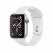 Apple Watch Series 4, 40mm Silver Aluminum Case with White Sport Band - умен часовник от Apple