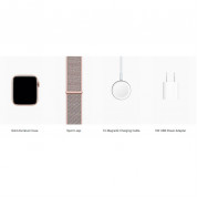 Apple Watch Series 4, 44mm Gold Aluminum Case with Pink Sand Sport Loop - умен часовник от Apple 3