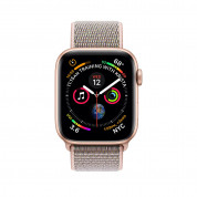 Apple Watch Series 4, 44mm Gold Aluminum Case with Pink Sand Sport Loop - умен часовник от Apple 1