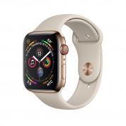 Apple Watch Series 4, 44mm Gold Stainless Steel Case with Stone Sport Band, GPS + Cellular