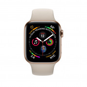 Apple Watch Series 4, 44mm Gold Stainless Steel Case with Stone Sport Band, GPS + Cellular - умен часовник от Apple 1