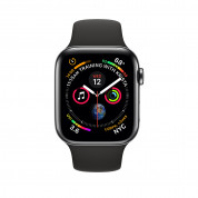 Apple Watch Series 4, 44mm Space Black Stainless Steel Case with Black Sport Band, GPS + Cellular - умен часовник от Apple 1